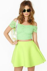 Nasty Gal Budding Lace Crop Top - Lyst