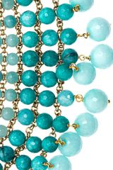 Rosantica Orchidea Aquamarine Agate Necklace - Lyst