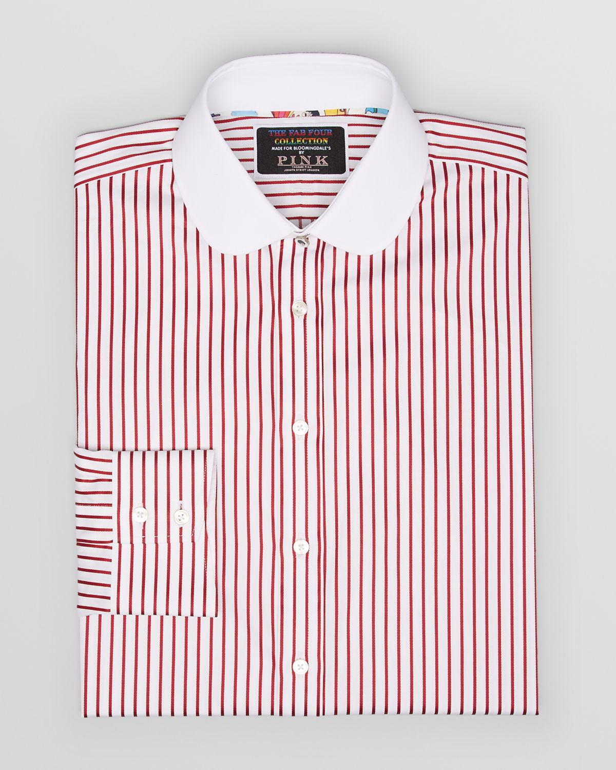 Thomas pink Fab Four Collection Pinstripe Dress Shirt Contemporary ...