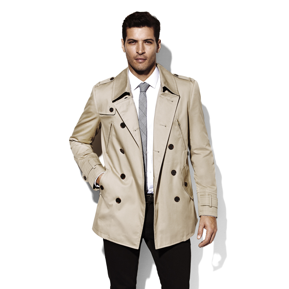 Cream trench coat women