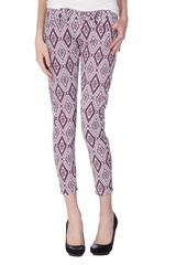 7 For All Mankind Gwenevere Ikat Cropped Jeans - Lyst