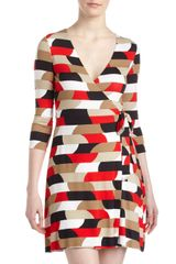 Bailey 44 Geometric Print Faux Wrap Dress - Lyst