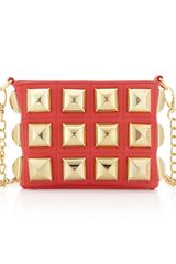 Betsey Johnson Stud Muffin Crossbody Bag Guava - Lyst