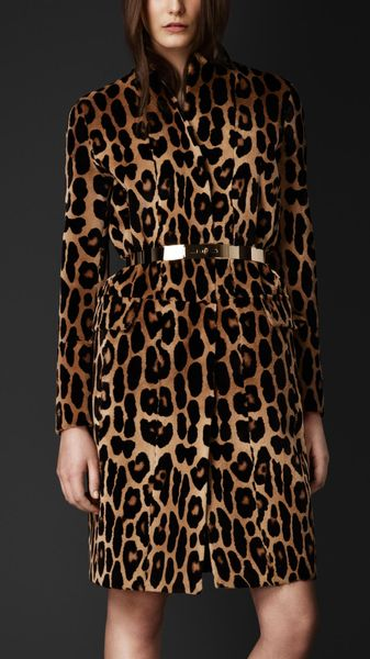 Burberry Animal Print Mink Caban - Lyst