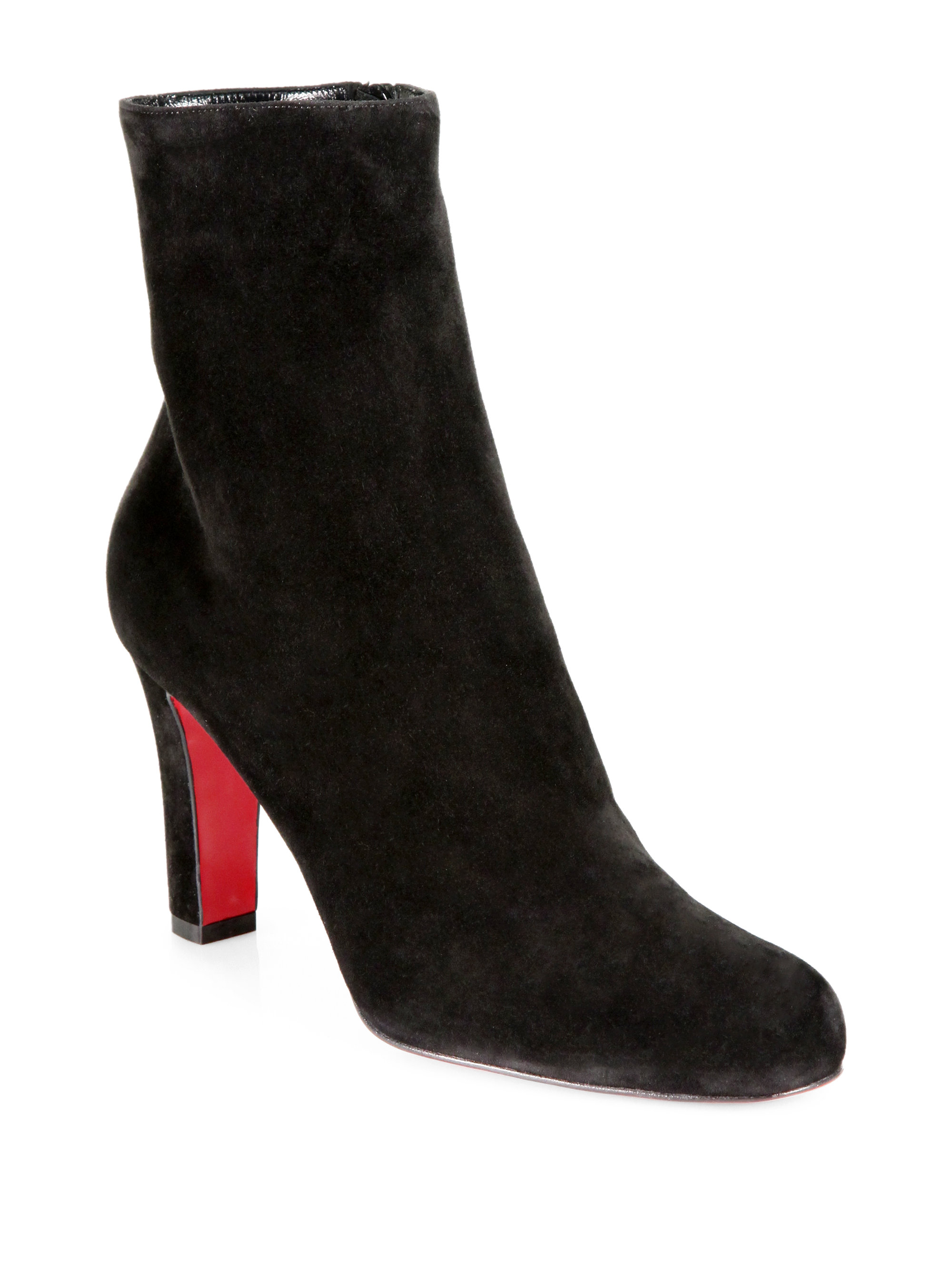 sports shoes b4c41 3dfb6 cheap louboutin black suede ankle boots 68f19 f2f6e