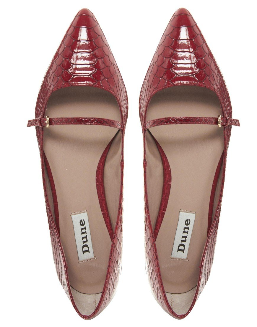 Pointed Flat Shoes With Strap