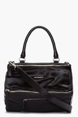 Givenchy Black Calf hair Textured Leather Pandora Bag - Lyst