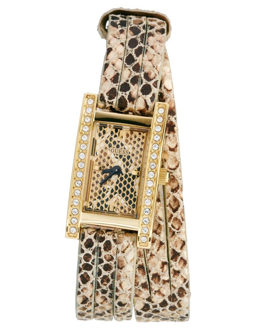 Часы Guess 344119 кварцевые с браслетом из нержавеющей стали с кожаным ремешком. Часы Guess Коричневый кожа 5159 руб