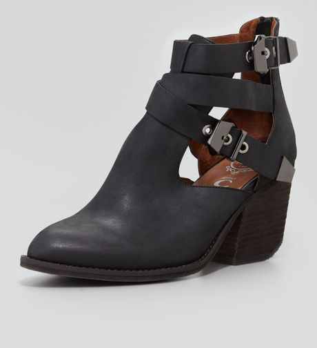 jeffrey cbell buckeye strappy cutout ankle boot in