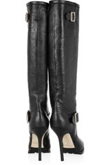 Jimmy Choo Gaige Leather Knee Boots in Black - Lyst
