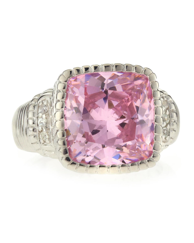 Lyst - Judith Ripka Pink Crystal Ring Size 7 in Metallic