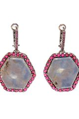 Kimberly Mcdonald Sapphire Slice and Ruby Earrings - Lyst