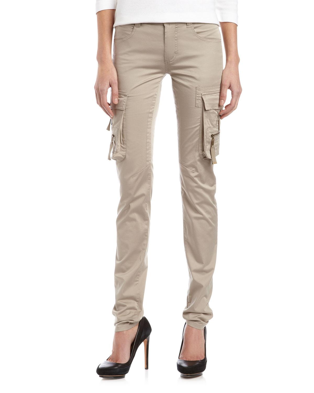 Luxury Landsu0026#39; End 100% Cotton Solid Tan Cargo Pants 27 Waist - 84% Off | ThredUP