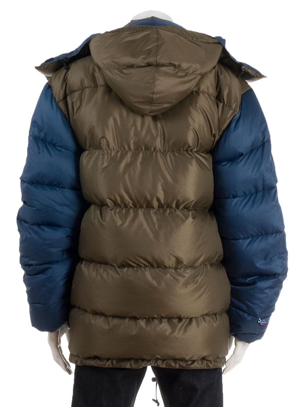 Limoland Brown and Blue Puffa Jacket in Brown for Men | Lyst