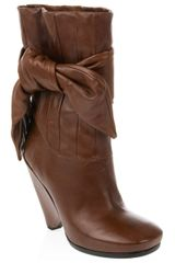 Marc By Marc Jacobs Side Tie Leather Boots - Lyst