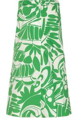 Marni Pleated Printed Cotton Skirt - Lyst