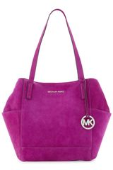 Michael by Michael Kors Large Ashbury Suede Grab Bag - Lyst