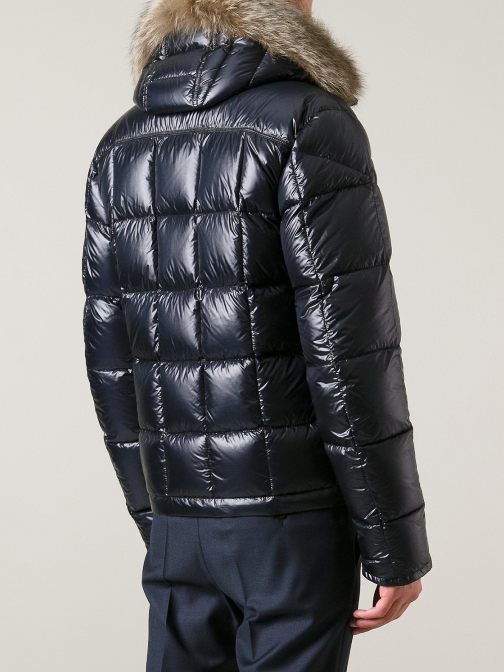Moncler Bussang Textured Hooded Jacket In Blue For Men Lyst