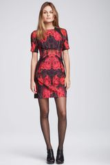 Nanette Lepore Spaceship Leatherinset Dress - Lyst