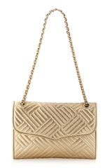 Rebecca Minkoff Affair Metallic Quilted Bag Gold - Lyst