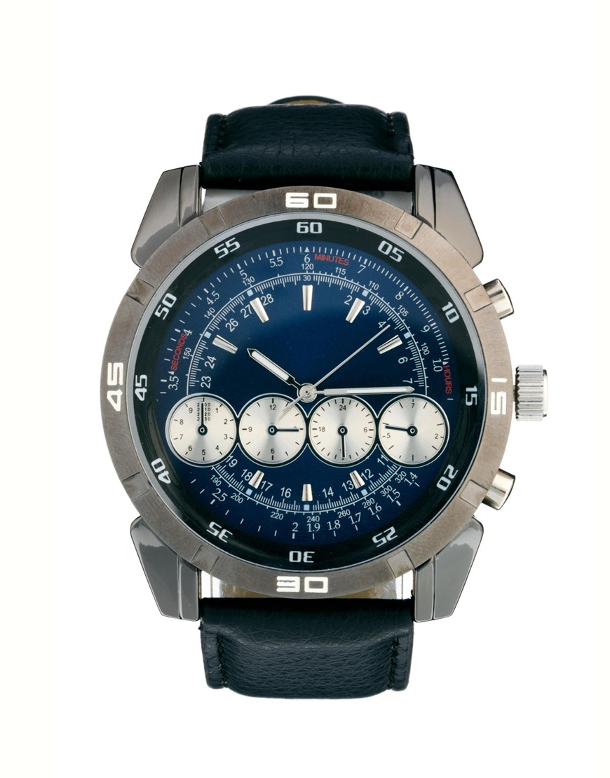 Lyst River Island 4 Dials Blue Face Watch In Blue For Men
