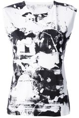 Saint Laurent Printed Vest - Lyst