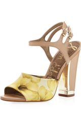 Sam Edelman Odetta Striped Satin Sandal - Lyst