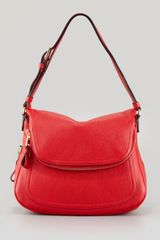 Tom Ford Jennifer Medium Calfskin Shoulder Bag Flame Red - Lyst