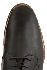 Topman Black Leather Lace Shoes - Lyst