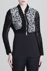 Versace Hand-knit Cropped Jacket - Lyst
