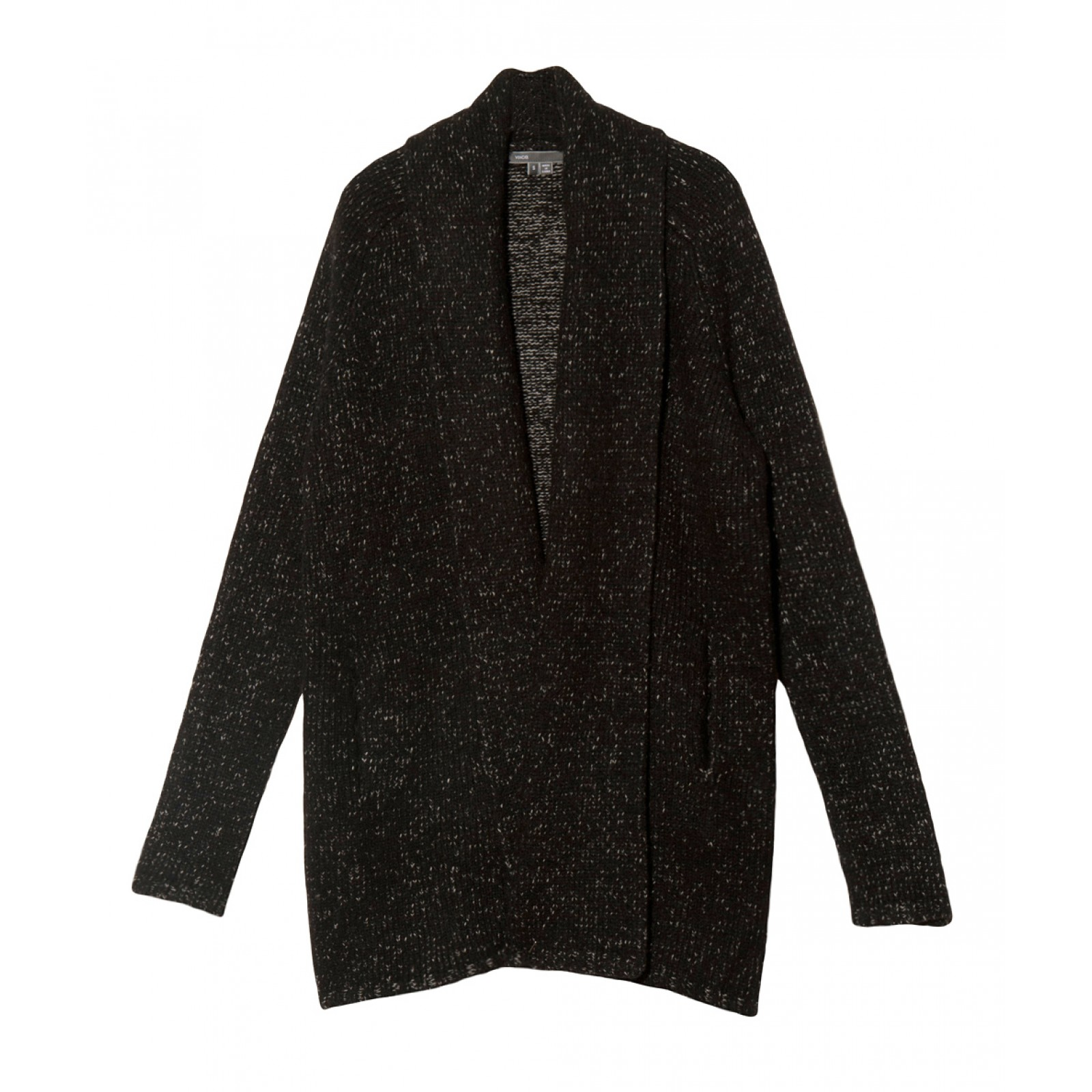 Black Sweater Coat Cardigan - JacketIn