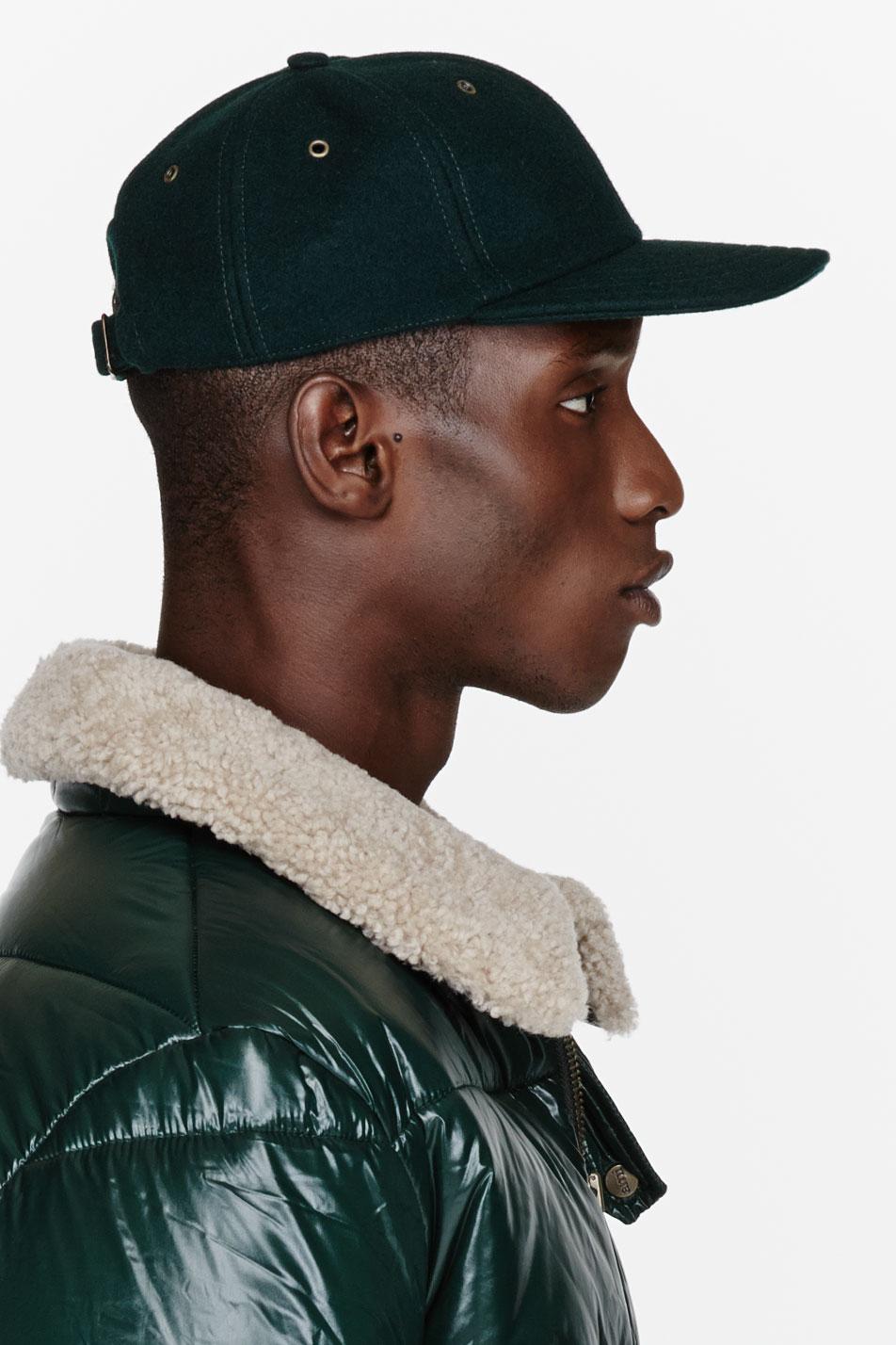51a0fed3691f6 AMI Green Felted Wool Baseball Cap in Green for Men - Lyst