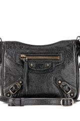 Balenciaga Classic Date Leather Shoulder Bag - Lyst