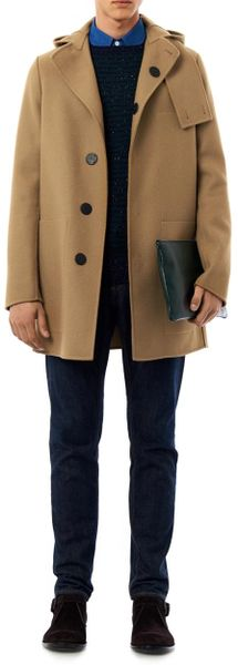 Bottega Veneta Woolblend Duffle Coat In Beige For Men