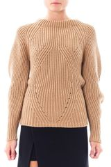 Burberry Prorsum Sculptural Cashmere Sweater - Lyst