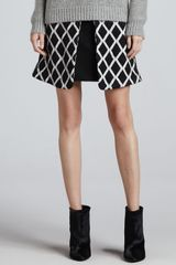 Elizabeth And James Irene Pleated Printed Skirt - Lyst