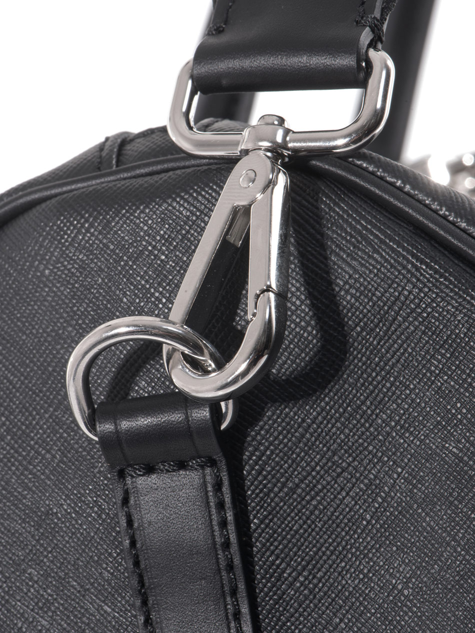 18c1a38949b Lyst - Fendi Tonal Leather Weekend Bag in Black for Men