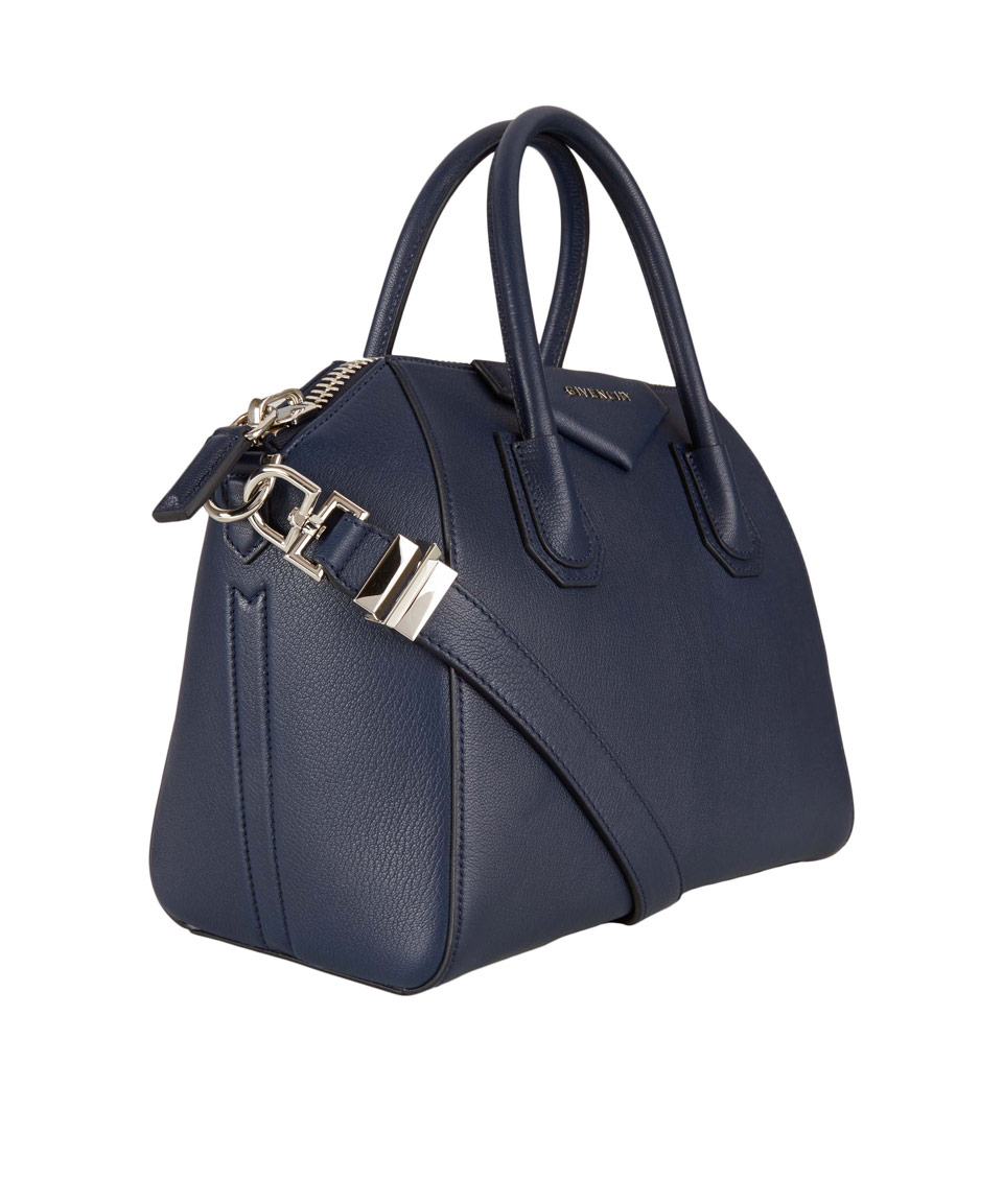 78d1c14f7d Givenchy Small Navy Antigona Textured Leather Bag in Blue - Lyst