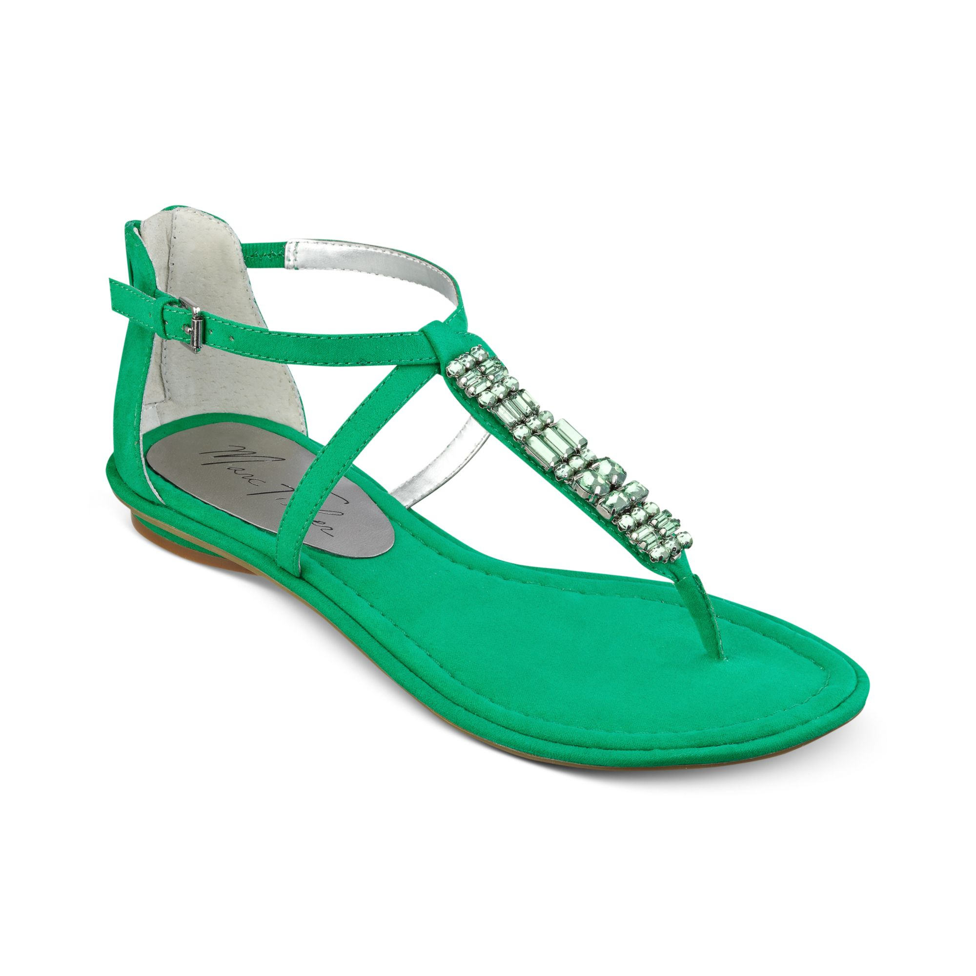 3268a4340ee5 Lyst marc fisher mard flat thong sandals in green jpg 2000x2000 Green flat  sandals for women