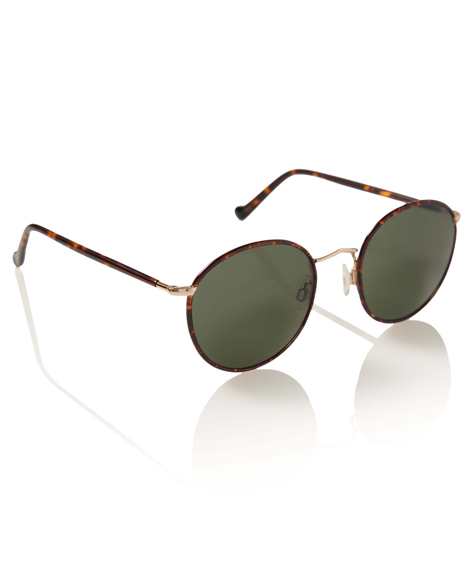 ad27bd956c Lyst - Moscot Brown Zev Round Frame Sunglasses in Brown for Men