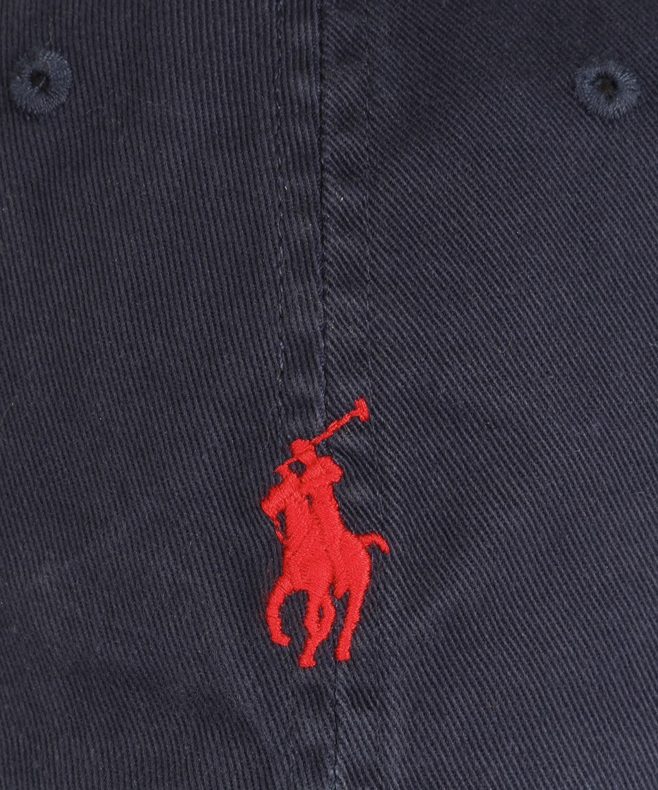 Polo Ralph Lauren Navy And Red Logo Cap In Blue For Men Lyst
