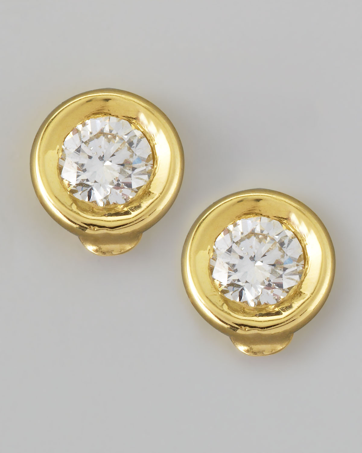 round earring store disc plated stud gold plate index hammered