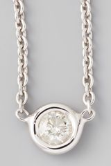 Roberto Coin 18k White Gold Single Diamond Necklace - Lyst