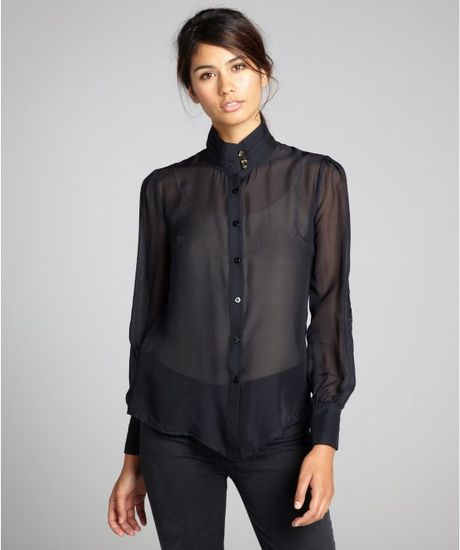 Zara Sheer Embroidered Blouse 12