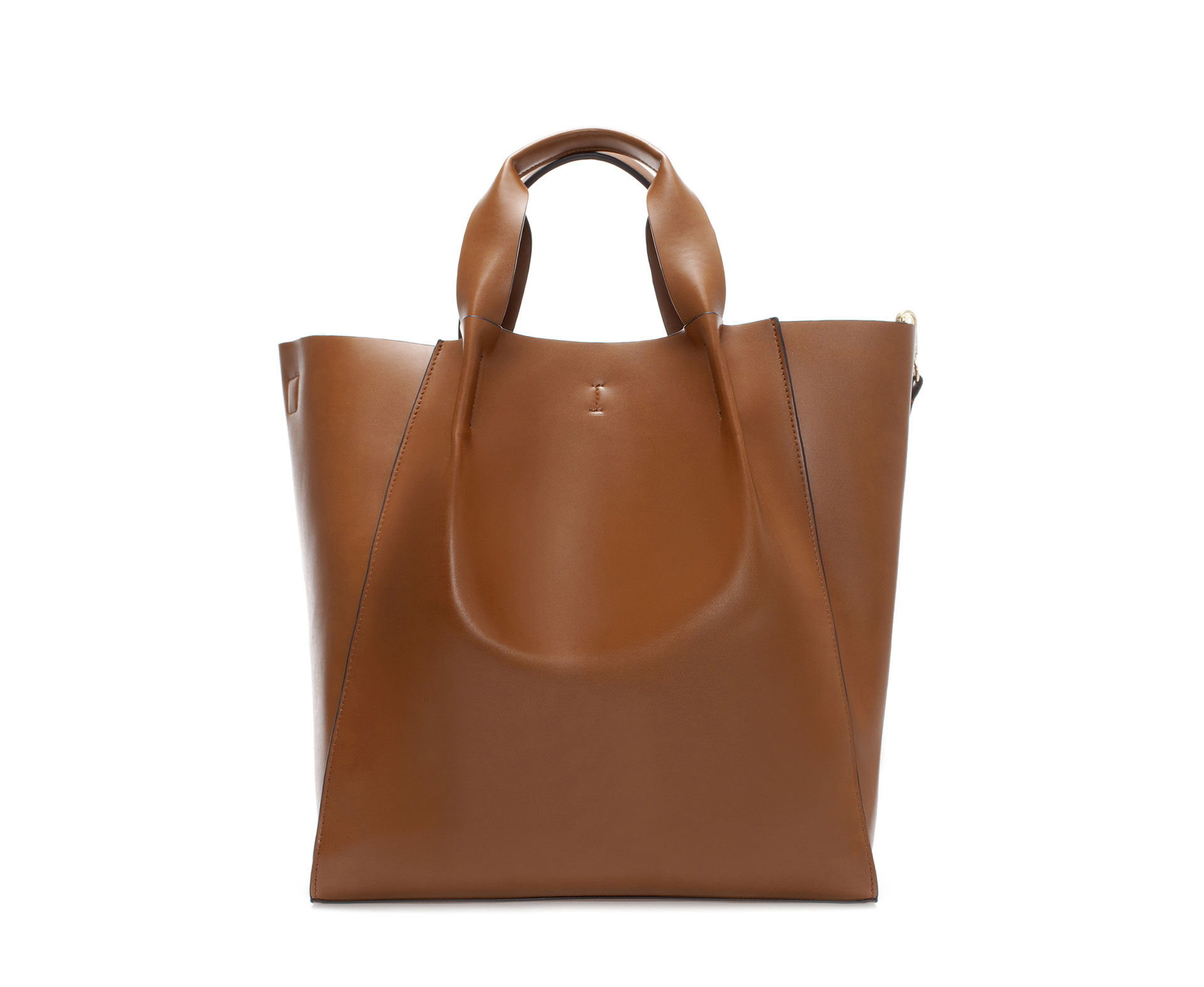 Zara Shopper Bag in Brown (Leather) | Lyst