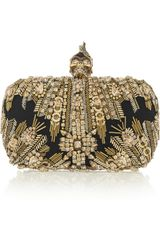 Alexander McQueen The Skull Swarovski Crystalembellished Box Clutch - Lyst
