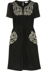 Collette By Collette Dinnigan Embroidered Silk Dress - Lyst