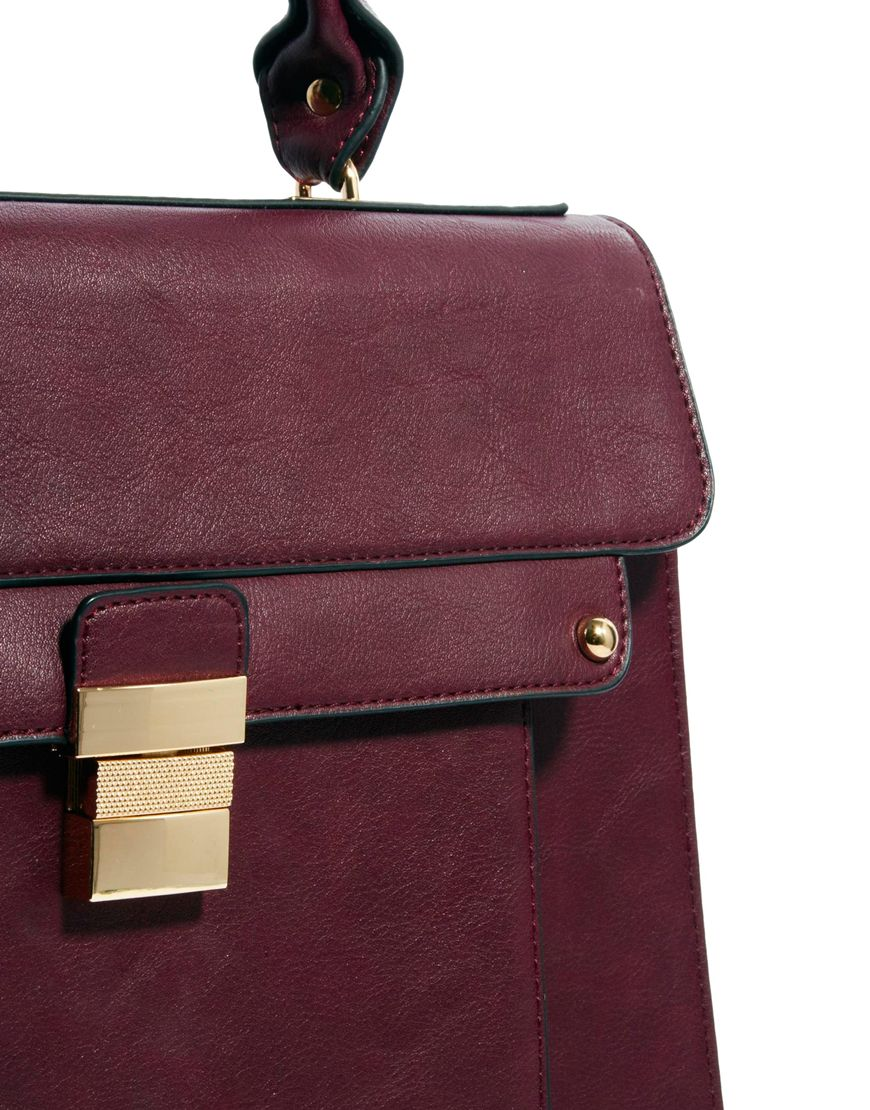 Dune Datchel Satchel Bag in Purple | Lyst