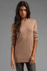 Equipment Rei Crew Sweater in Tan - Lyst