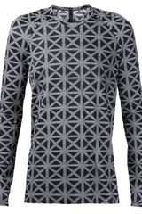 Gareth Pugh Long Sleeve Geometric Shirt - Lyst